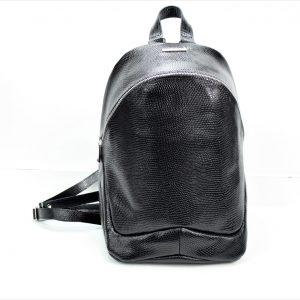 Plecak skórzany – Fabio Plecak ZIP duży black snake