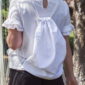 WOREK PRZECIWKURZOWY Biały z funkcją plecaka