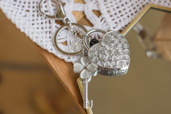 Breloczek-serce kryształki