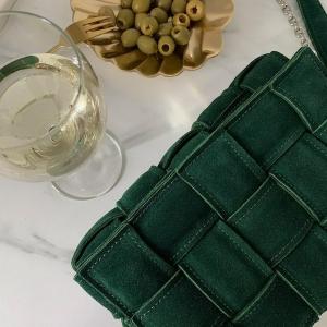 Torebka Zamszowa RUBBY M butelkowa zieleń